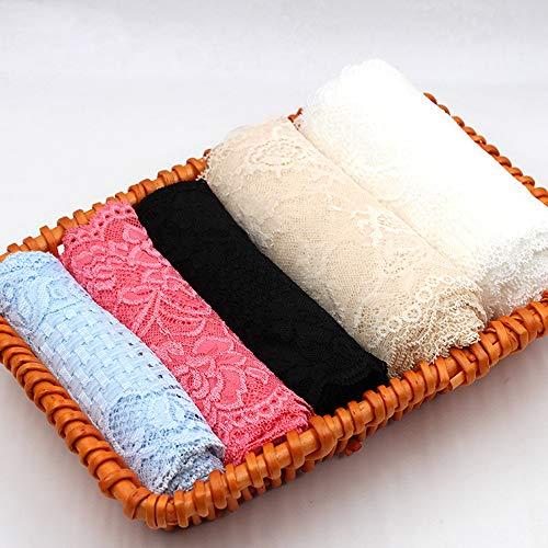HL-PYL 5 Yards/Lot Mix Breite 10-20cm Stretch Lace Trims DIY Puppenkleidung zuf?llige Farben Nicht elastisches Band Handmade Garment Accessoires, mischen helle Farben