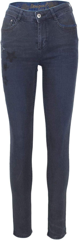 Desigual Women's 18WWDD51blueE bluee Cotton Jeans