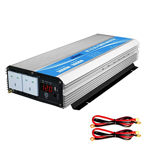 GIANDEL Power Inverter 3000W DC 12V to AC 240V Modified Sine Wave converter...