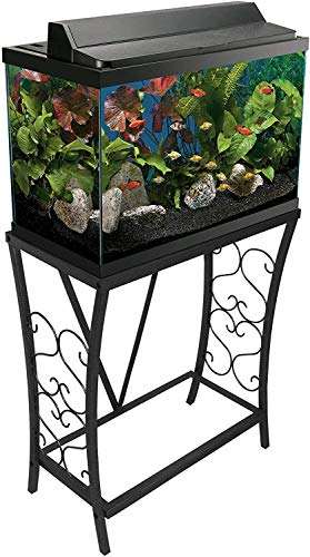 Aquatic Fundamentals Metal Aquarium Stand (20 Gallon- Black) 102201-AMA