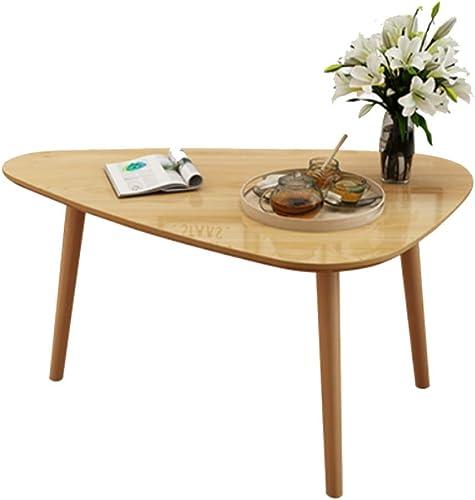 NAN Table d'appoint en Bois Massif Petite Table Ronde Table de Chambre à Coucher Moderne Table Basse à Droite Triangulaire (Couleur   Couleur du Bois)