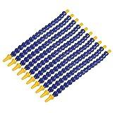 Flexible Coolant Hoses, 10pcs Plastic Water Oil Coolant Pipe 1/8 BSPT Thread Hose for Lathe, Milling, CNC Machine, etc