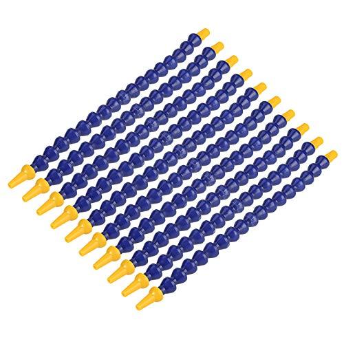 Flexible Coolant-10pcs Tubo de refrigerante de aceite de agua de plástico flexible 1/8BSPT Manguera de rosca para torno CNC