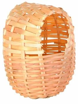 TRIXIE Nid exotique, bambou, 9 × 10 cm pour oiseau,