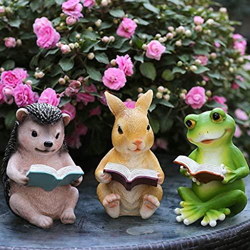 Estatua de jardín Lámpara impermeable Adorno de jardín Figura de resina creativa, Adorno de jardín impermeable al aire libre, Estatua de jardín para decoración de césped de jardín (Erizo), Estatu