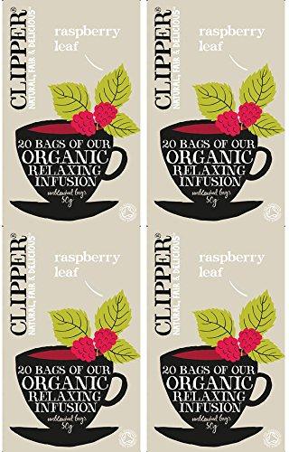 Clipper - Juego de 20 bolsitas de te organico con hojas de frambuesa