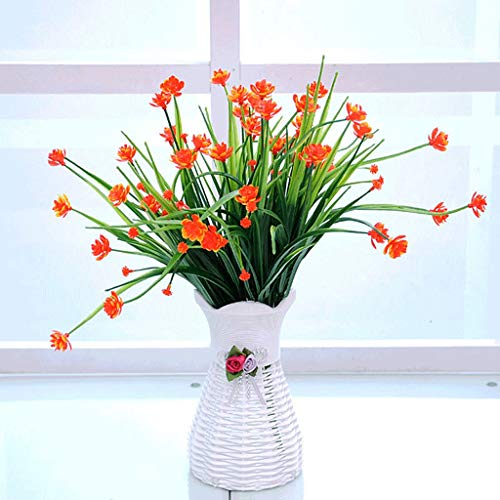 Planta de Flores Artificiales Bonsai, bonsái Artificial Falso para Ramos de jardín, Pared, Hotel, hogar, decoración de Boda (Color : Orange)