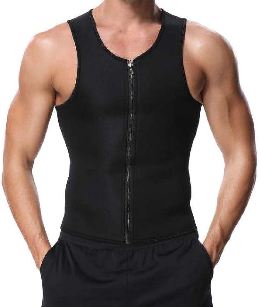 Men's Body Shaper Hot Sweat Max 79% OFF Workout V Genuine Free Shipping Slimming Neoprene Top Tank
