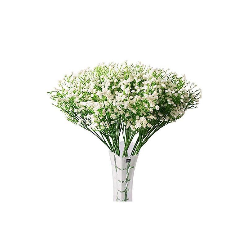 "silk flower arrangements hantajanss 12 pcs baby breath gypsophila artificial flowers bouquets fake real touch flowers for wedding party decoration diy home decor 21"""
