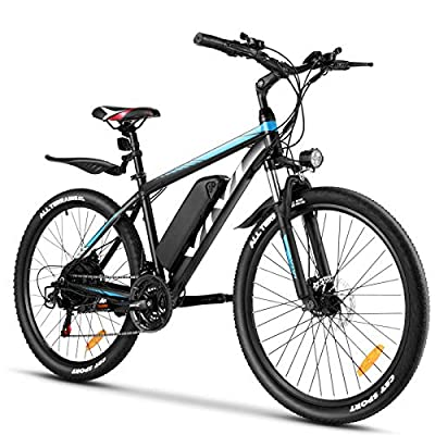 """VIVI Electric Bike 26"""" Electric Mountain Bike 350W Adult Electric Bicycle/Electric Commuter Bike, Ebike with Removable 10.4Ah Battery, Professional Shimano 21 Speed"""