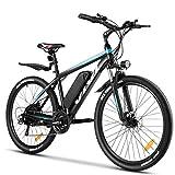 VIVI Bici Elettrica 26/27.5' Bicicletta Elettrica Pedalata Assistita Uomo Mountain Bike Elettrica 350W, Ebike Batteria 36 V/10.4Ah,Shimano a 21 velocità (26 Pollici-Blu)
