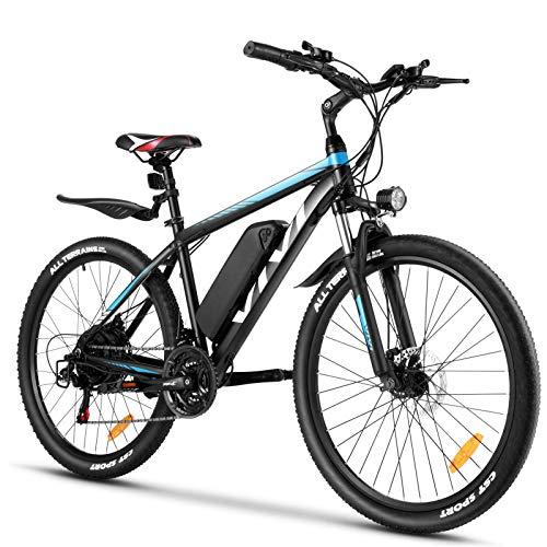 Vivi E Bike Mountainbike Ebike Herren 26 Zoll Elektrofahrrad Elektrisches Fahrrad mit 36V 10.4AH Lithium-Batterie und 21 Speed (26 Zoll Blau 1)