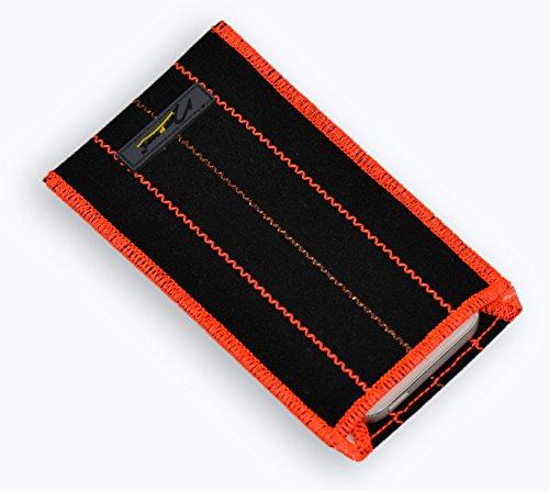 Norrun Handytasche / Handyhülle # Modell Ontje # ersetzt die Handy-Tasche von Hersteller / Modell Auro Compact 6321 # maßgeschneidert # mit einseitig eingenähtem Strahlenschutz gegen Elektro-Smog # Reinigungseinlage # Made in Germany