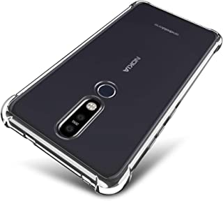 SLEO Case for Nokia 8.1 Plus Case - SLEO [Air Cushion] Crystal Clear Flexible Soft TPU Bumper Case with Shock-Absorption Back Protective Phone Cover for Nokia 8.1 Plus
