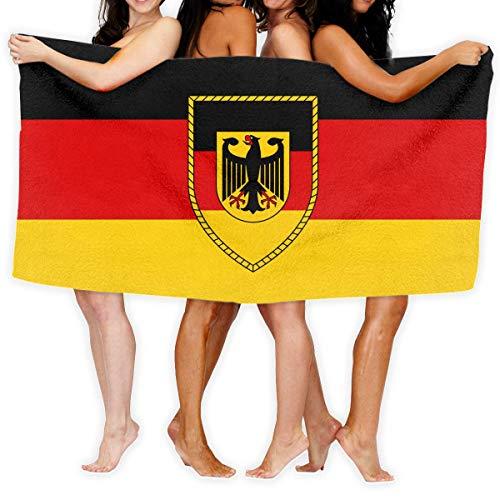 Roman Lin Badetuch Bundeswehr Logo Mit Text Mode Übergroße Leichte Badetuch Saugfähiges Badetuch Handtuch Pool Handtuch 80X130 cm