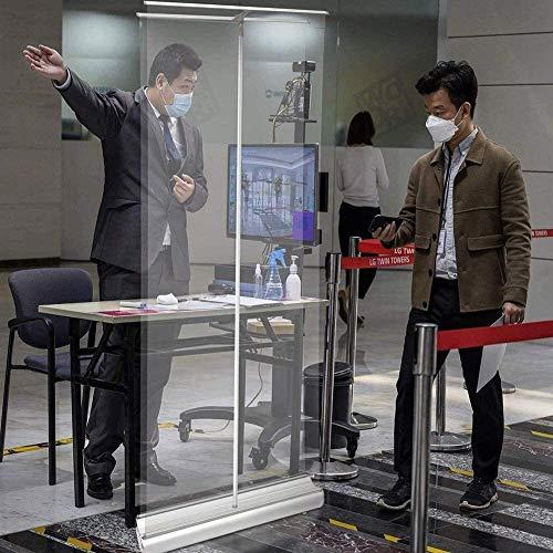 EW&HU Enrolle la pancarta transparente, la pantalla del protector de estornudos, el escudo protector de cine transparente, emergente divisor de plástico, transparente