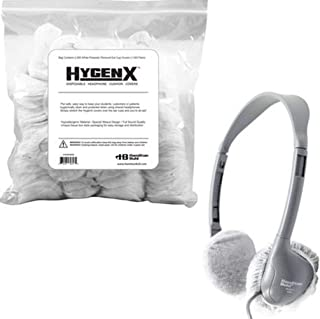 "HamiltonBuhl X19HSPWHB HygenX 2.5"" Sanitary Ear Cushion Covers, White for On-Ear Headphones and Headsets; Convenient, Rese..."