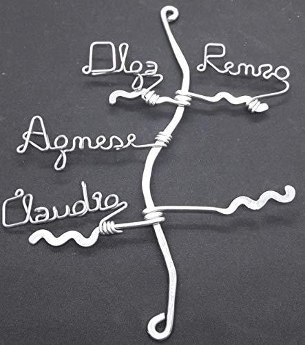 Albero della famiglia,dell'amicizia e dell'amore con 4 nomi.Scegli i nomi che desideri.