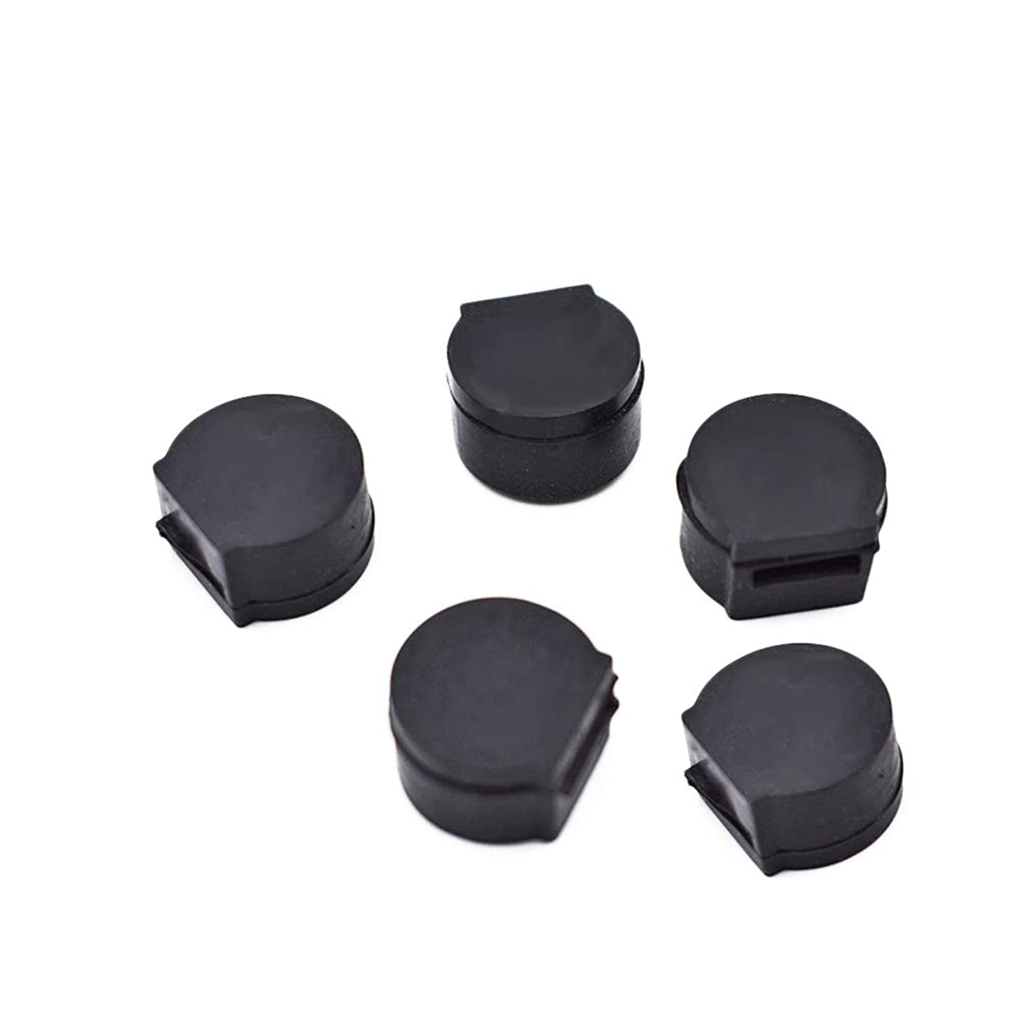 Tcplyn Thumb Rest Cushion Rubber Clarinet Woodwind Wind Instrument Practice Finger Protection Thumb Pad Black 5 Pieces