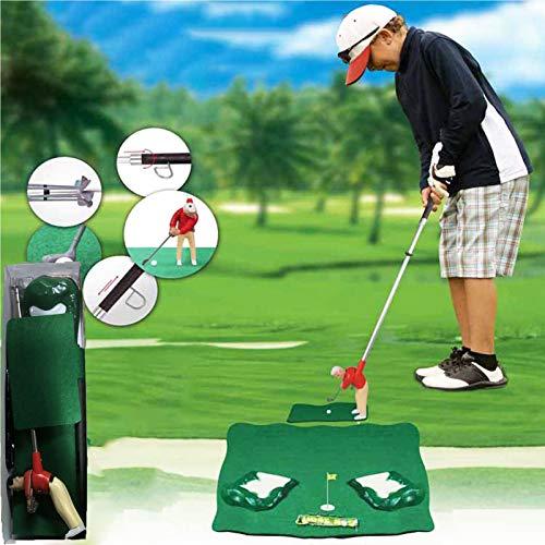LCJDD Mini Golf Golf Game Pack de competiciones, Juego de Juegos de Golf Simulator con un Chico pequeño Adjunto al Club de Golf para la Sala de Estar para la Sala de Estar Familiar (Color : Red)