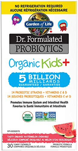 Garden Of Life Garden Of Life Dr. Formulated Organic Kids + Masticare 5 Miliardi Di Probiotici Anguria 30 Compresse Masticabili - 30 g