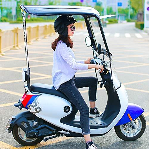 XIONGGG Universal Fahrrad Elektrische Sonnenschutz Regenschutz, Komplett Geschlossenen Wasserdichten Regenschirm, Motorrad Regenschirm,No Rear View Mirron