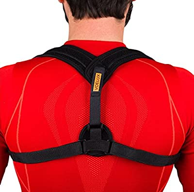 VOELUX Adjustable Figure 8 Back Posture Corrector and Clavicle Brace