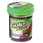 Berkley Gulp Alive Petits vers de terre vivants Rouge Twin Pack #1