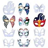 ZOYLINK Careta Blanca, 12 Piezas Máscara Blanca Mascara para Pintar Caretas Infantiles...