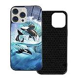 Compatibile con iPhone 12 Pro Max Caso, Full Body Rugged Caso, Morbido TPU Glass Case per iPhone 12 Pro Max 7.7', Orca Wave Jerry Lofaro