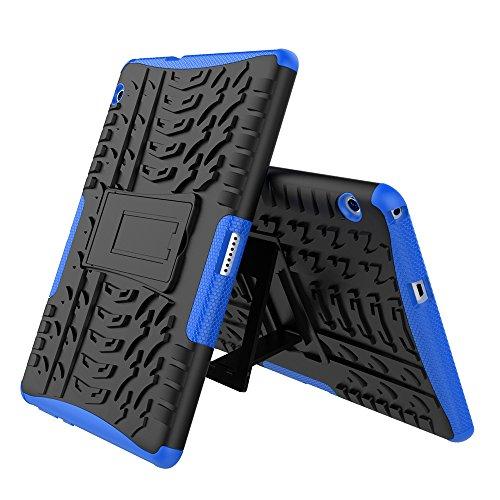 XITODA Huawei MediaPad T3 10 Hülle, Armor Style Hybrid PC + TPU Silikon Hülle Mit Stand Schutzhülle für Huawei MediaPad T3 10 (9,6 Zoll) Tablet Case Cover Tasche - Dunkelblau - 2