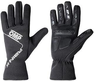 OMP Rain K All-Conditions Karting Gloves (Size: Medium, Black)