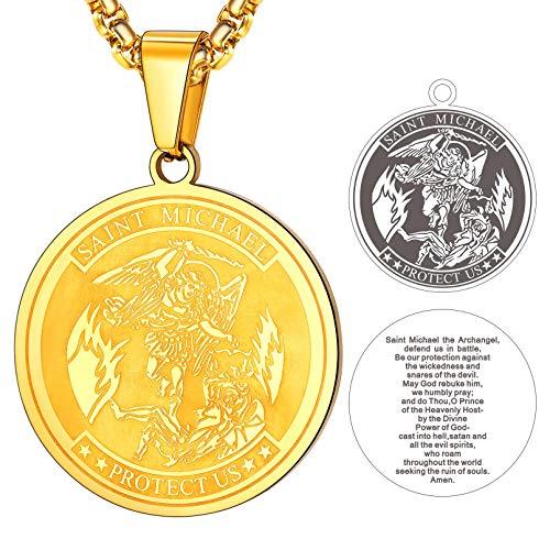 FaithHeart Plaque Or Medaille Archange Michael-Médaillon Sai