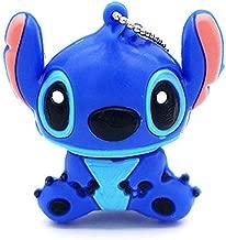 Novelty Stitch Blue Shape Design 32GB USB 2.0 Flash Drive Cute Memory Stick Stitch Thumb Drive Data Storage Pendrive Cartoon Jump Drive Gift (Stitch Blue-32GB)