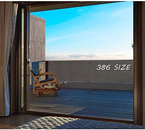 Losxy Malla Protectora Balcon 105x2500cm, Resistente a los Rayos UV Lona ocultación con Cuerda y Bridas para Jardín Balcón Terraza Piscina - Anthracite