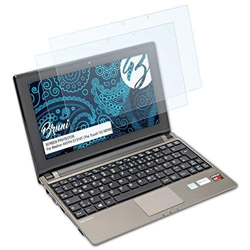 Bruni Schutzfolie kompatibel mit Medion AKOYA E1318T (The Touch 10) MD99240 Folie, glasklare Displayschutzfolie (2X)