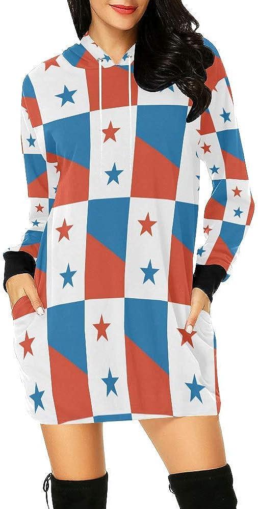 Lumos3DPrint Panama Flag Arlington Weekly update Mall Women's Hoodie Dress Mini