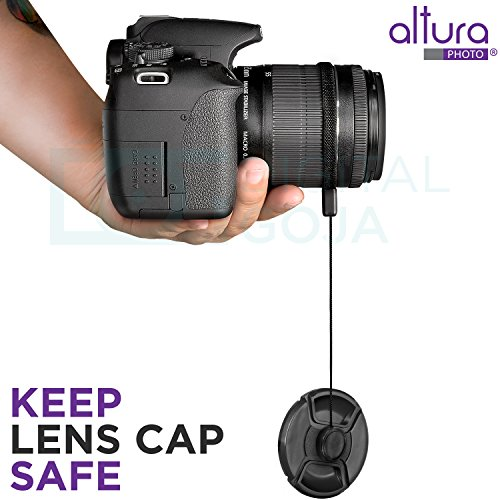52MM Altura Photo Professional UV CPL ND4 Lens Filter Kit and Accessory Set for Nikon and Canon Lenses with a 52mm Filter Size
