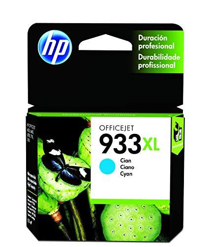 HP 933XL Gelb Original Druckerpatronen mit hoher Reichweite für HP OfficeJet 7510, 7612, 7110, 6700, 6100, 6600, Cyan, XL