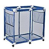 AOBEN Pool Storage Bin, Rolling Pool Storage Mesh Basket Organizer, Large Capacity Swim Accessories Holder for Pool Balls, Noodles, Floats, Beach Towels