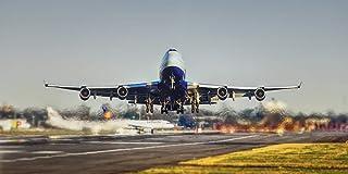 絵画風 壁紙ポスター (はがせるシール式) ブリティッシュ・エアウェイズ BA ボーイング 747-400 ジャンボジェット 1989年運用開始 British Airways BOEING パノラマ キャラクロ B747-012S1 (115...