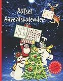 Rätsel Adventskalender: Der Große Rätselspaß für Advent und Weihnachtszeit für Kinder im Alter von 4 bis 8 Jahren mit weihnachtlichen Motiven (Lustige und kreative Rätselbücher für Kinder, Band 1)