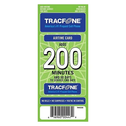Amazon com: Tracfone 200 Minutes and 90 Days of Service - Refill
