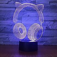 Dtcrzj Ooヘッドセットギフト7色ナイトランプカスタムギフトLed 3Dステレオランプ子供部屋Ledキッズライトランプ