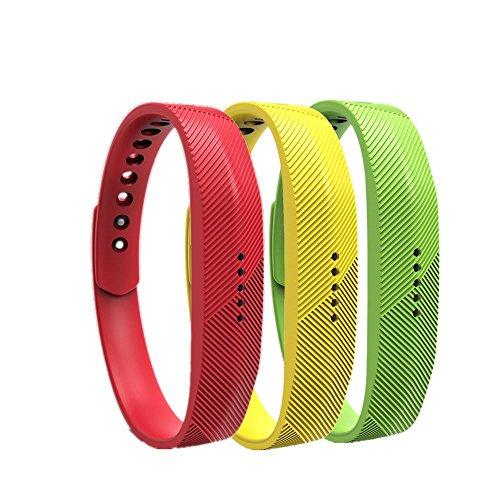 WEINISITE Armband für Fitbit Flex 2, Soft Silikon Ersatzarmband für Fitbit Flex 2 Aktivitäts-Tracke (Set 7, S)