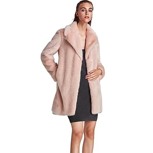 6cf4de72328c8 Pink Faux Fur Coat: Amazon.co.uk