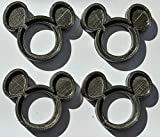 YNGLLC Mickey Mouse Special Occasion Napkin Ring with Ears JR. Clubhouse Made in USA PR762 (4, Black)