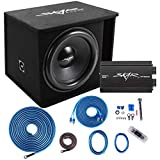 """Skar Audio Single 18"""" Complete 1,200 Watt SDR Series Subwoofer Bass Package - Includes Loaded Enclosure with Amplifier"""