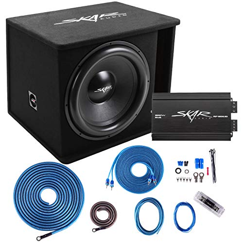 "Skar Audio Single 18"" Complete 1,200 Watt SDR Series Subwoofer Bass Package - Includes Loaded Enclosure with Amplifier"