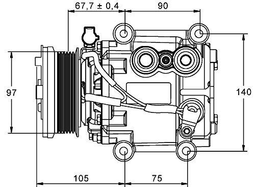 MAHLE ACP 848 000P A/C-Kompressor BEHR PREMIUM LINE